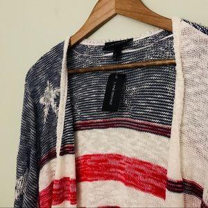 Lane Bryant Sweaters - Lane Bryant Stars &Stripes Cardigan NWT Size 22/24